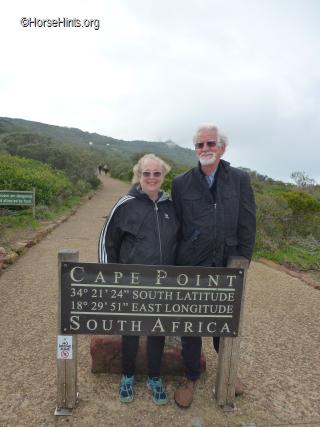 Cape Point Sign/Bill and Deb/Copyright HorseHints.org
