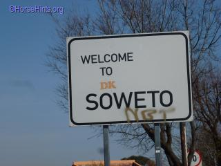 Soweto Sign/Copyright HorseHints.org